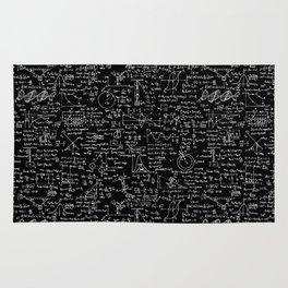 Physics Equations on Chalkboard Rug