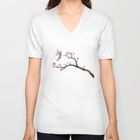 cherry blossom V-neck T-shirts featuring Cherry Blossom by Elisa Camera