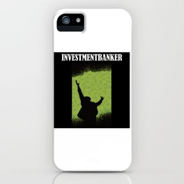 Banker Investment Banker With Flying Dollars iPhone Case
