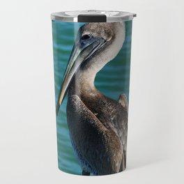 Pelican On A Pole Travel Mug