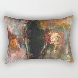 Dark Presence, Abstract Art Painting, Itaya Rectangular Pillow