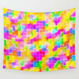 BRICK WALL SMUDGED (Multicolor Light) Wall Tapestry