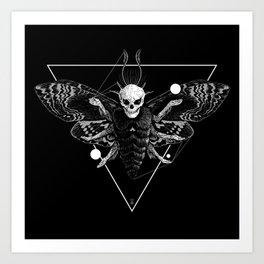God Moth Art Print
