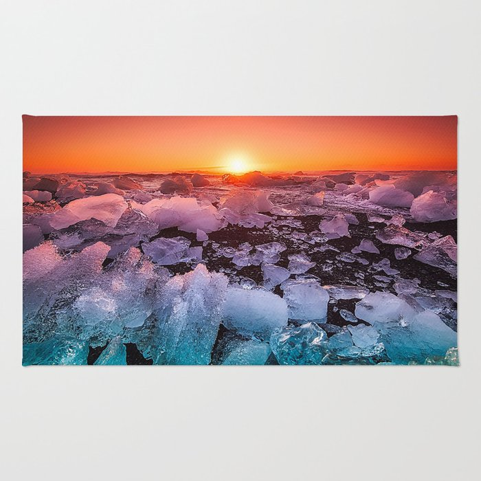 Ice of Antarctica's Sunset Rug