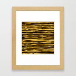 Honey Yellow Abstract Drizzle Framed Art Print