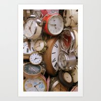 Stop the Clocks Art Print