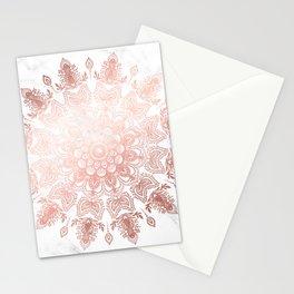 Dancing Mandala Rose Gold Stationery Cards