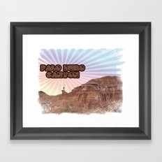 Retro Palo Duro Canyon Framed Art Print