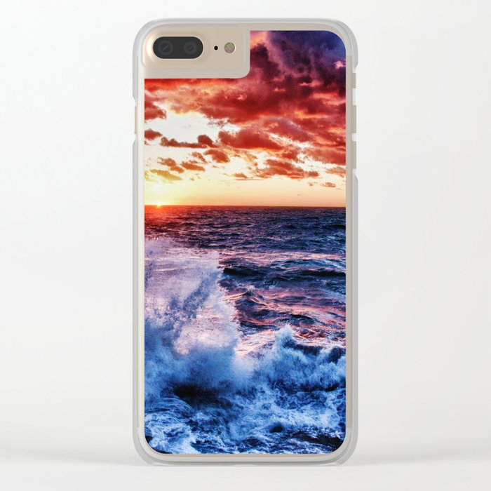SuNset Waters Clear iPhone Case