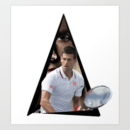 Youtriangle ∆ Novak Djokovic Art Print