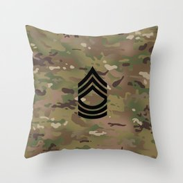 Master Sergeant (Camo) Throw Pillow