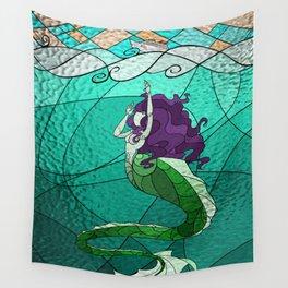 Primeval Mermaid (teal) Wall Tapestry