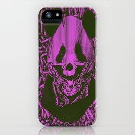 Purple Gangsta Panda iPhone Case