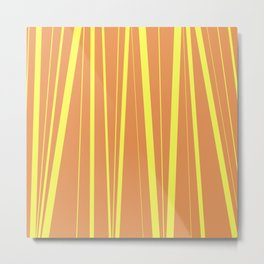 Orange And Yellow Stripes - Abstract Sunshine Metal Print