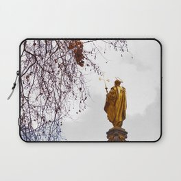 Statue of a saint in gold Laptop Sleeve