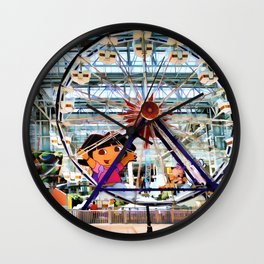 Nickelodeon Universe indoor amusement park 2 Wall Clock