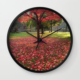 Red Maple Tree Wall Clock