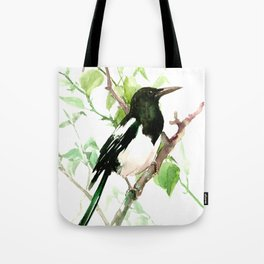 Magpie Bird on the Tree Tote Bag