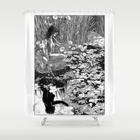 apollonia Shower Curtains featuring asc 534 - La Dame du lac (Viviane) by From Apollonia with Love