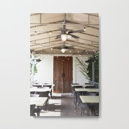 The Door to Foodie Wonders Metal Print