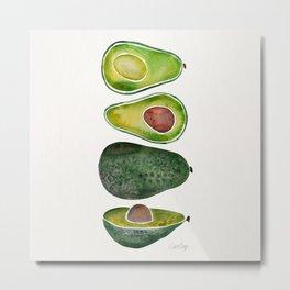 Avocado Slices Metal Print
