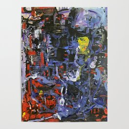 Networking, Abstract Acrylic Design Poster
