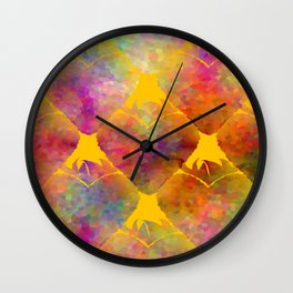 Berry Hearts Wall Clock