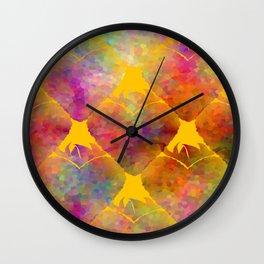 Berry Hearts Wall Clock
