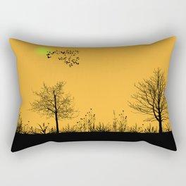 Orange panorama Rectangular Pillow