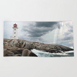 Peggy's Cove Light House -- Nova Scotia Beach Towel