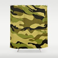army Shower Curtains featuring ARMY by Sophie