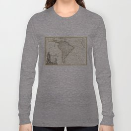 Vintage Map of South America (1762) Long Sleeve T-shirt