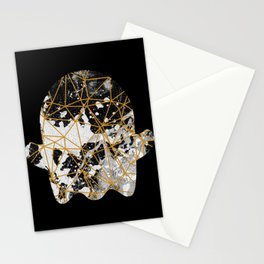 Emoji ghost abstract with splash Stationery Cards