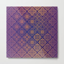 Floral luxury royal antique pattern Metal Print