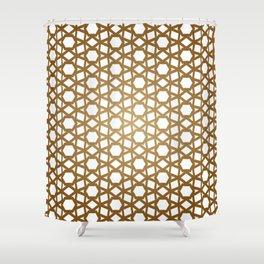 Golden Hive Shower Curtain
