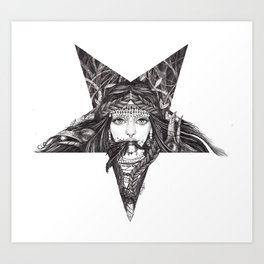 Lady of the Dark Star. Art Print