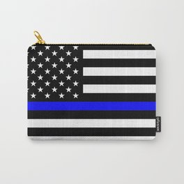 Police Flag: The Thin Blue Line Carry-All Pouch