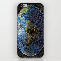 earth iPhone & iPod Skins featuring Earth  by 2sweet4words Designs