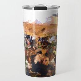 Tourists in Nyhavn Travel Mug