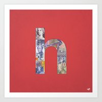 helvetica Art Prints featuring Helvetica by Riccardo Pallicelli