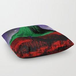 Painting in the Dark Floor Pillow