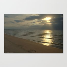 Sun Washed Waves Canvas Print