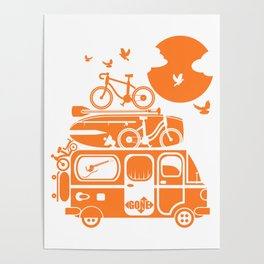 Funny family vacation camper Poster