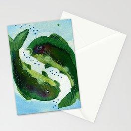 Pisces Zodiac Horoscope Painting Stationery Cards