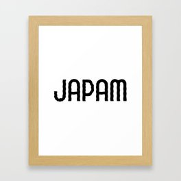Japam Framed Art Print