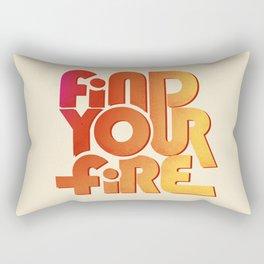 Find your fire no2 Rectangular Pillow