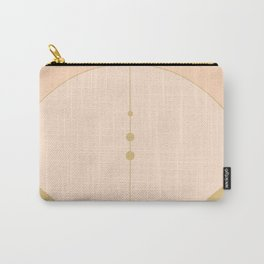 Olive Green and Cream Abstract Carry-All Pouch