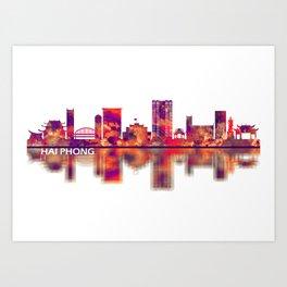Hai Phong Vietnam Skyline Art Print