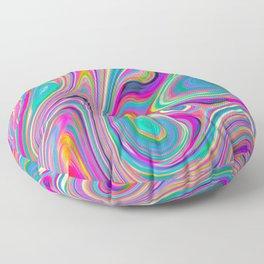 Candy pink melt Floor Pillow