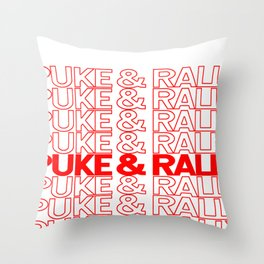Puke & Rally Throw Pillow